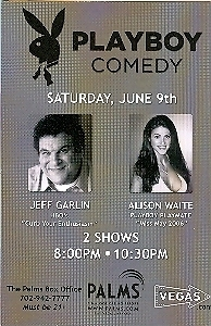 Primary image for Jeff Garlin / Alison Waite @ PLAYBOY CONMEDY Vegas Promo Card