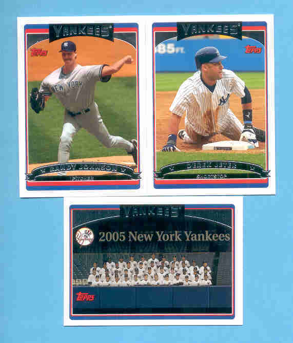 2006 Topps New York Yankees Baseball Team Set