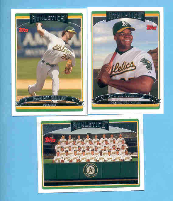 2006 Topps Oakland Athletics Baseball Team Set