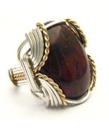 Wire Wrap Poppy Jasper Silver / 14kt Gold Fille... - $150.00