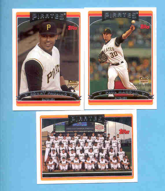 2006 Topps Pittsburgh Pirates Baseball Team Set