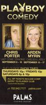 CHRIS PORTER / ARDEN MYRIN @ Playboy Comedy PALMS Vegas Promo Card - $1.95