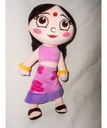 Chhota Bheem Chutki Plush Soft Doll Toy India Cartoon Indian Girl - $19.77