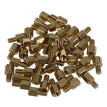 GX.Diffuser Queen 50 Pcs Brass Screw PCB Standoffs Hexagonal Spacers Mal... - $13.95