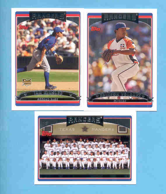 2006 Topps Texas Rangers Baseball Team Set