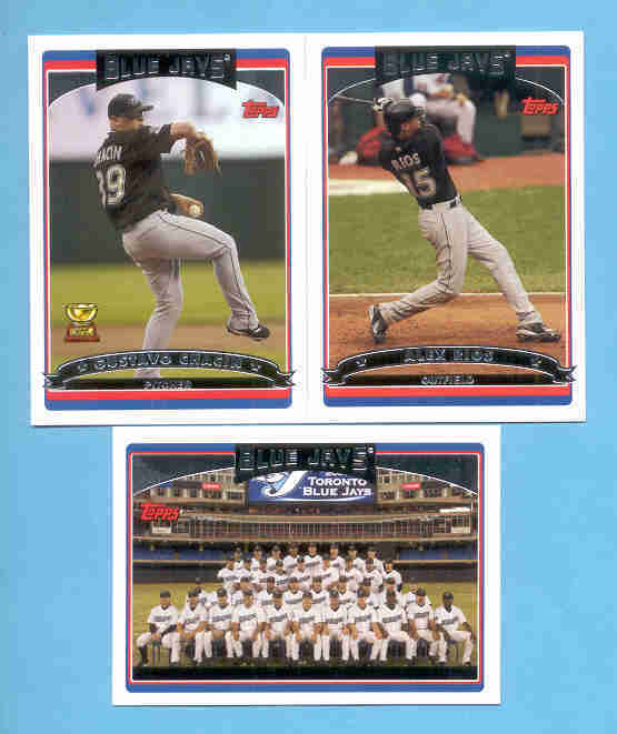 2006 Topps Toronto Blue Jays Baseball Team Set