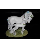 Princeton Gallery  Unicorn Figurine  1990 Loves Devotion - $69.99