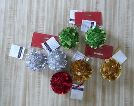 """7 christmas Ornaments Red, Green, Gold and Silver Balls 3"""" Round Balls - $7.50"""