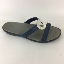 Crocs Medallion Slide Sandals Blue 6 - $12.73