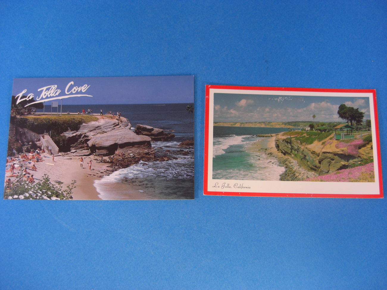 La Jolla Cove Two Postcards
