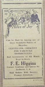 1918 Cleveland Cresent Yarcycle Motorcycles Amherst Ad