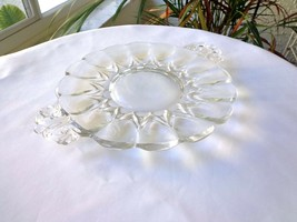 New Martinsville Janice Pattern Clear 2 Handle Butter Tray  c1926-1944 - $20.78