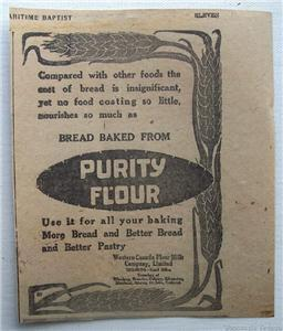 1920 Purity Flour Better Bread & Pastry Ad