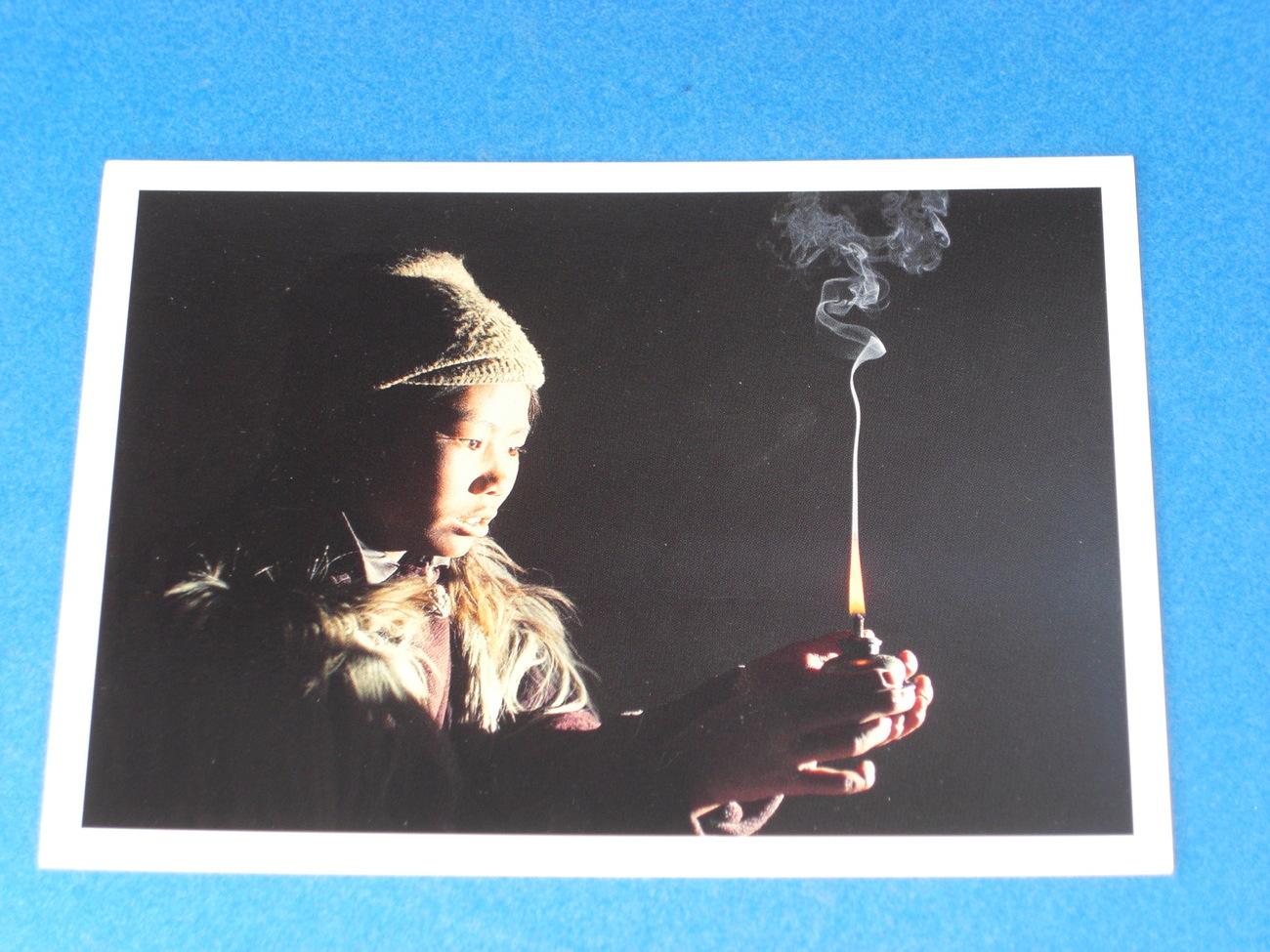 Nouvelles Images Postcard Girl of Zanskar/Chenzom Au Zanskar by Olivier Föllmi