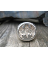 Vintage Sterling Silver Bat wing ring Mens size 11 - $165.00