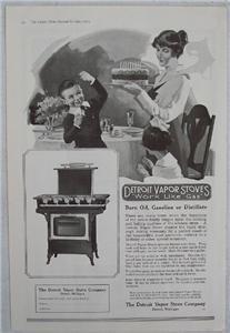 1919 Detroit Vapor Stoves Geissler Signed Vintage Ad