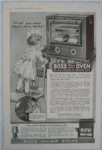 1919 Boss Glass Door Oven & Stove Vintage Ad, Huenefeld Co., Cincinnati,... - $6.50
