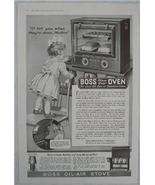 1919 Boss Glass Door Oven & Stove Vintage Ad, Huenefeld Co., Cincinnati,... - $6.50