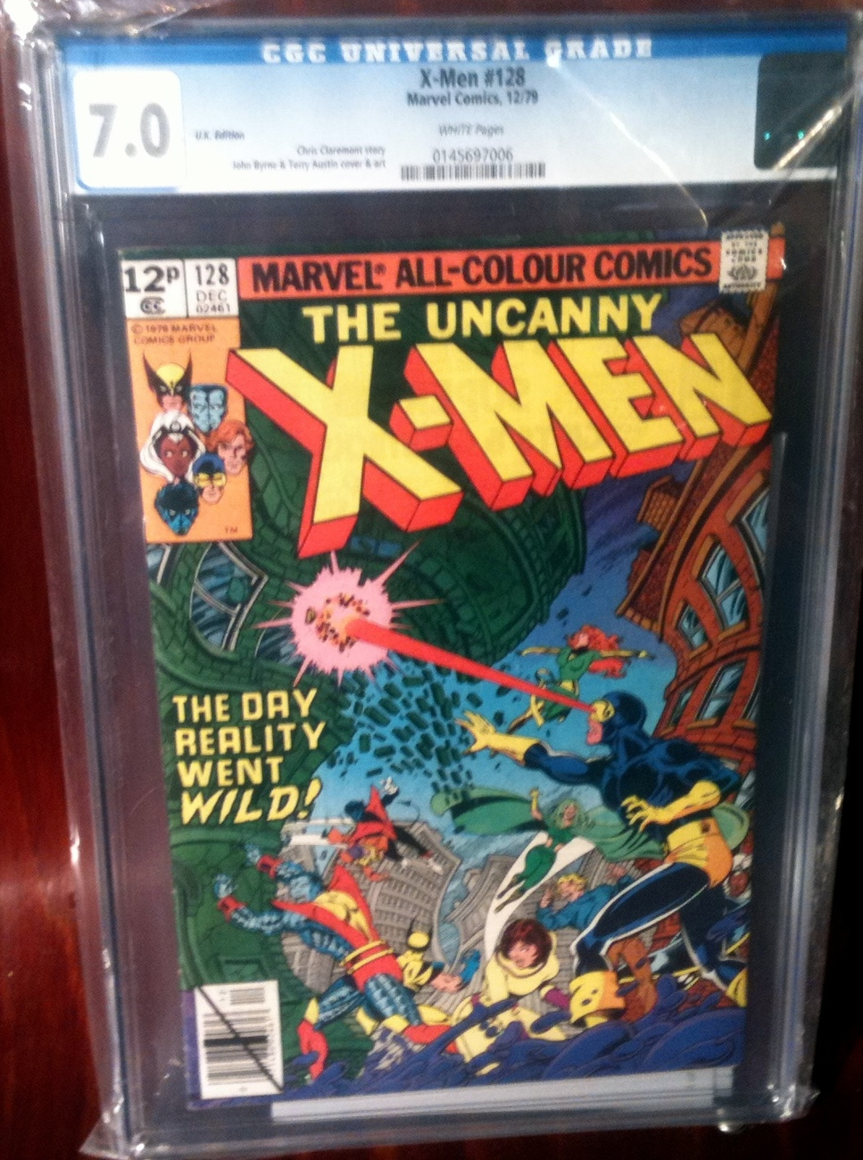 X-Men (1963) # 128 CGC Graded 7.0 FINE+ UK Edition