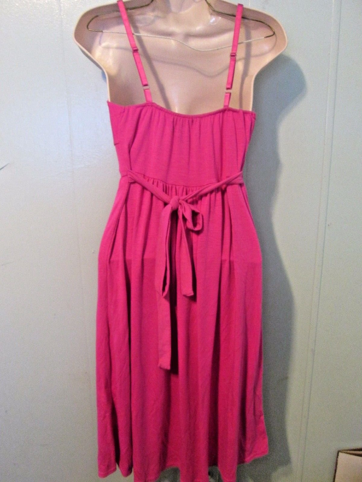 Ladies Size large L rose pink spaghetti strap dress by Planet Gold MSW105