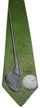 "Vintage 1987 ""Go For It"" Golf Ball Ralph Marlin Necktie Tie Green Usa Made - $9.40"