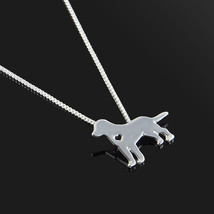 Silver Pet Dog Puppy Border Collie Charm Pendant Necklace Women Fashion Gift  - $9.89