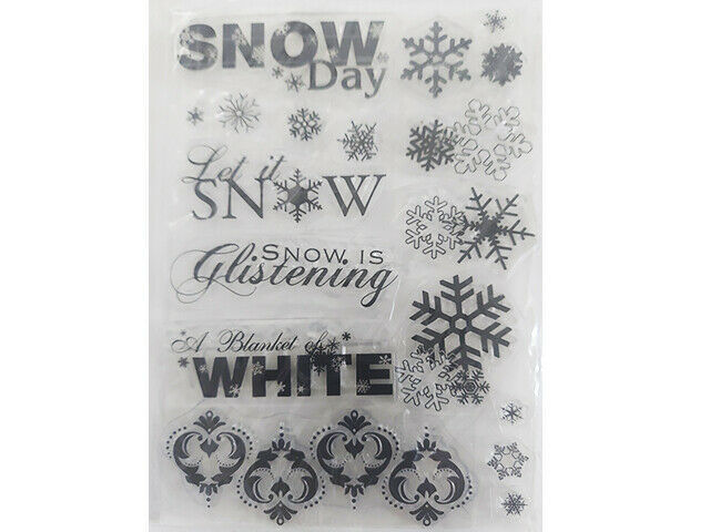 Snow Day and Snowflakes Clear Stamp Set