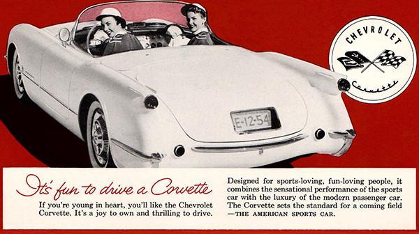 Primary image for 1954 Chevrolet Corvette - It's Fun To Drive A Corvette - Promotional Poster