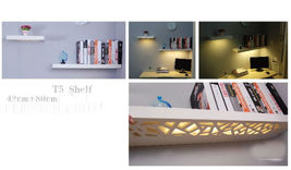 IVORY Color 110x25cm FLOATING WOODEN SHELF UNIT INVISIBLE WALL MOUNTED L... - $99.00