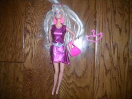 Mattel 2000's Barbie Doll Dress, Barrette, Purse, Hanger 4 Piece Set - $9.90
