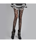 Fashion Flower Lace Pantyhose Leggings Stockings Black  - $26.37 CAD