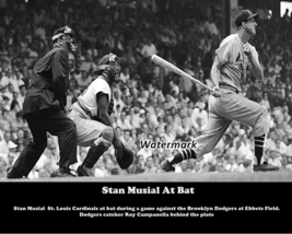MLB 1957 St. Louis Cardinals Stan Musial Roy Campanella Dodgers 8 X 10 Photo Pic - $5.99