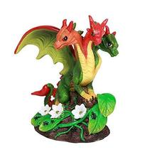 ABZ Brand Red Chili Pepper Vine Three Headed Dragon Statue by Stanley Mo... - $21.77