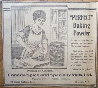 1920 Dearborn's Perfect Baking Powder Original Newspaper Ad