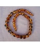 Necklace  Amber  Facet  23 In  Vintage Antique - $90.00