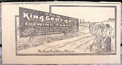 1917 King George's Navy Plug Chewing Tobacco Farmers Ad