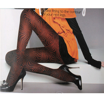 Lady Tights Pantyhose Leggings Black Color Print 600D - $24.90