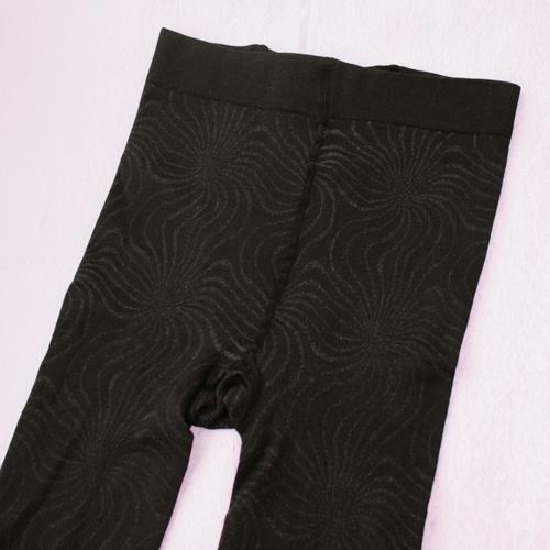 Lady Tights Pantyhose Leggings Black Color Print 600D