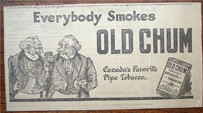 "Primary image for 1920 Old Chum Pipe Tobacco ""Gents"" Ad"