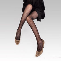 Sexy Tights Pantyhose Leggings Leopard Style Black  - $19.90