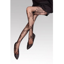 Sexy Pantyhose Leggings Flower Pattern Fishnet Style - $19.90