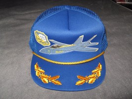 Blue Angels Gorra - Vintage USA Azul Marino Piloto Avión Aire Show Malla Béisbol - $29.55