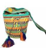 Authentic WAYUU Rhinestone Crystals Mochila 100% Colombian Finest Handmade - $84.14