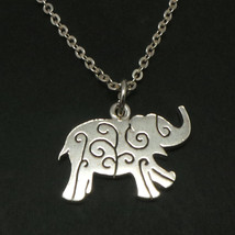 Handmade 925 Silver Elephant Filigree Necklace Pendant - 16'' to 24'' In... - $42.00