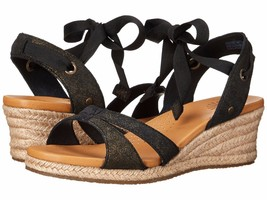 Women UGG® Australia Brisa Wedge Sandals, 1006823 Size 9.5 Black Authentic - $74.95