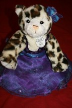 "BUILD A BEAR WORKSHOP 16"" SNOW LEOPARD PLUSH TOY ''COLLECTIBEAR'' Purple... - $23.24"
