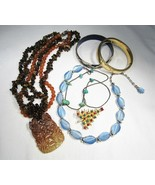 Vintage Costume Jewelry Lot Cloisonne Sterling Turquoise Gold Fill Jewel... - $27.96