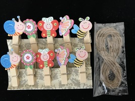 30pcs Butterfly Wooden Clips,Pegs,Clothespin,Kid's Birthday Party Gift F... - $7.20