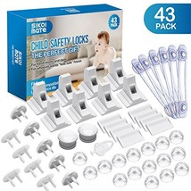 Baby Proofing, 43 Pcs Cabinet Locks Child Safety- 8 Magnetic Cabinet Loc... - $31.25