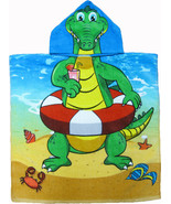 Alligator Hooded Beach Poncho Towel Kids Bath Costume Cotton Pool Cover ... - $17.99